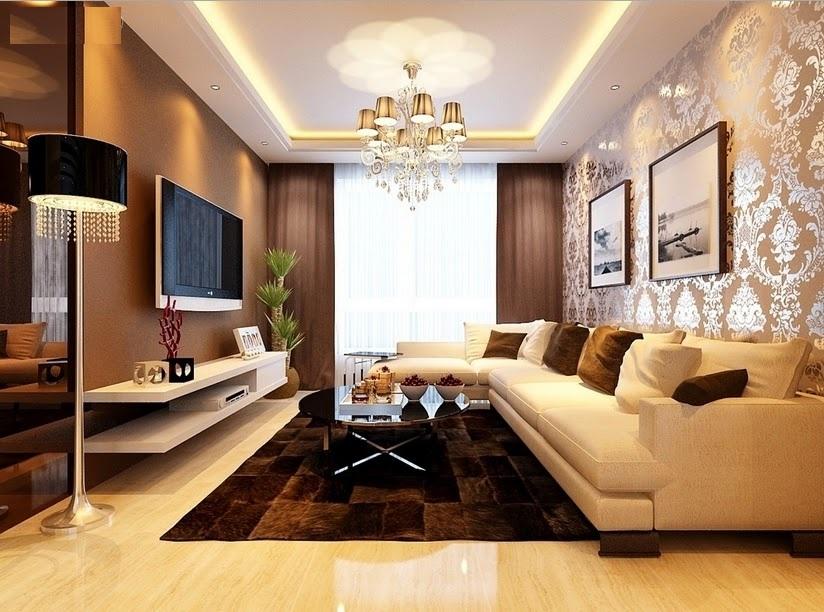 desain ruang tamu yang tampak mewah