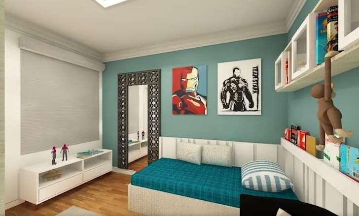 kombinasi warna hijau interior design