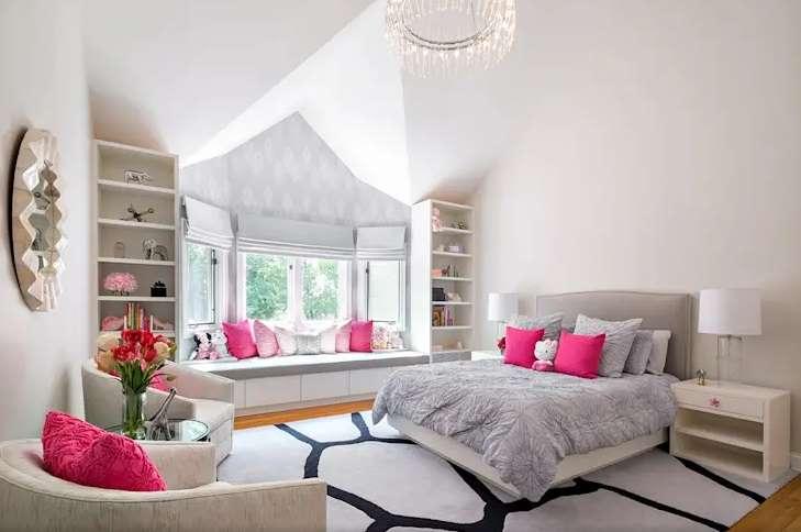kombinasi warna pink interior design